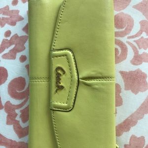 Coach lime green wallet. Used.
